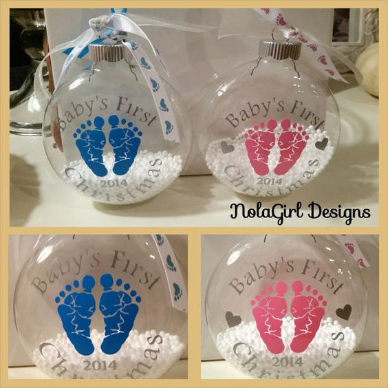 Homemade Christmas Ornaments For Babies : Babies first christmas and baby