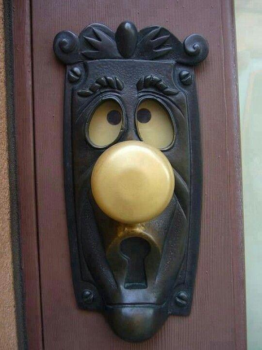 This Alice and Wonderland door knob is only for the young at heart. door decor. unique door knobs. front door. interior design. Custom door knob.