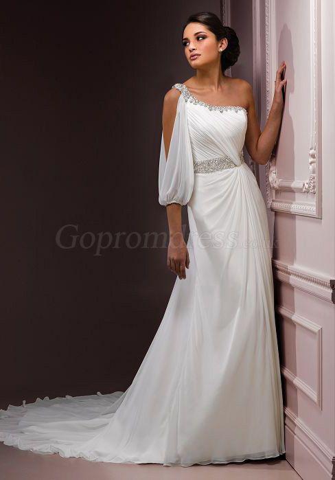 Greek Wedding Dress With Cape
