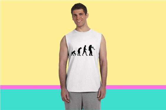 Trombone Evolution Sleeveless T-shirt