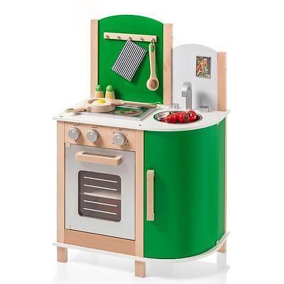 Sun 4132 Kinderküche / Spielküche aus Holz grün in Spielzeug, Kleinkindspielzeug, Küchen & Zubehör | eBay