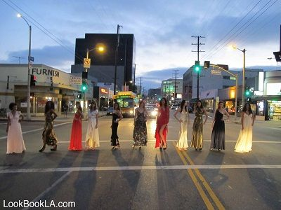 Fashion Stops West 3rd Street Traffic ~ Call Shareen Mitchell a stylish traffic hazard.    On the night of her self-named boutique's debut June 21, a long line of models wearing pieces from the new Shareen contemporary label crossed a busy street.    When traffic lights changed, this daisy chain of beautiful frocks stopped cars in front of the new Shareen boutique at 8377 W. 3rd St. in #LA (http://www.apparelnews.net/blog/2353_fashion_stops_west_3rd_street_traffic.html) #apparelnews #Blog