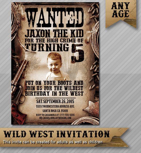 Wanted Invitation Cowboy Invitation Western Invitation – Wanted Invitation