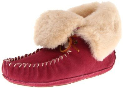 ACORN Women's Sheepskin Moxie Bootie Slipper,Raspberry,8 M US ACORN. $89.97