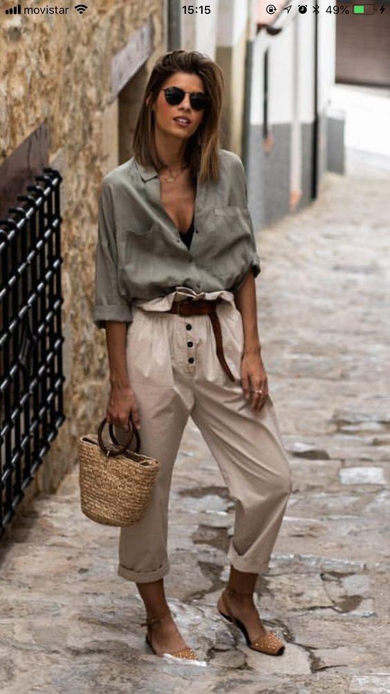 outfits casuales pantalón y camisa
