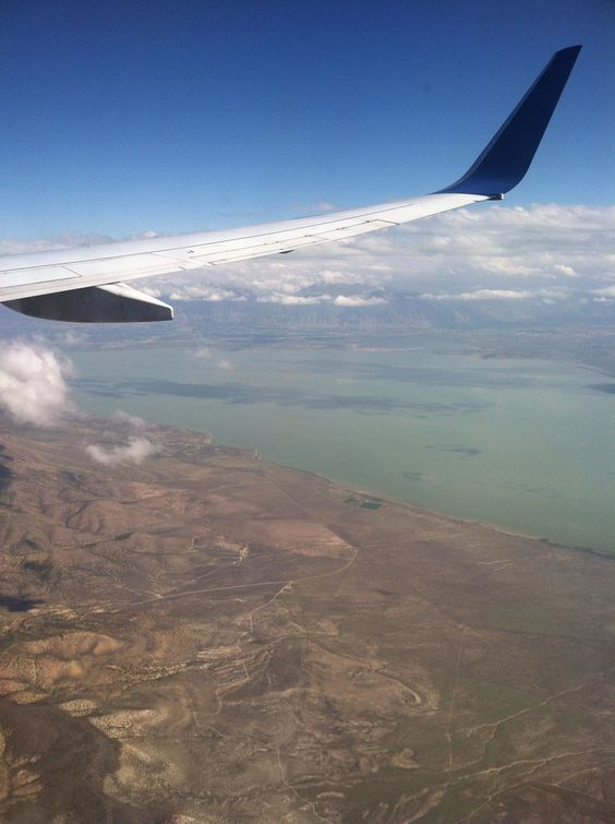Salt Lake City, Utah. Airplane view.