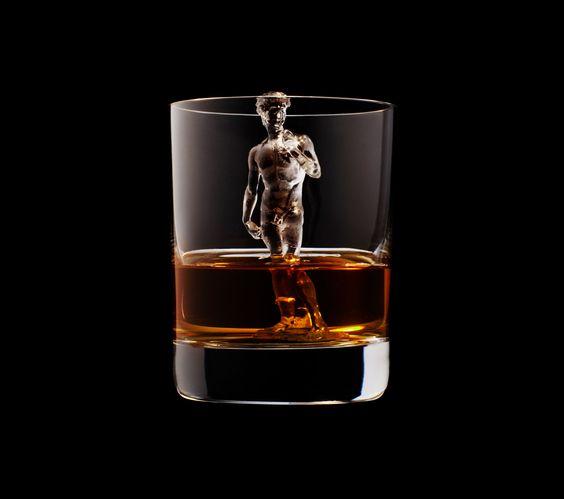 Suntory Whisky - 3D ice cube art