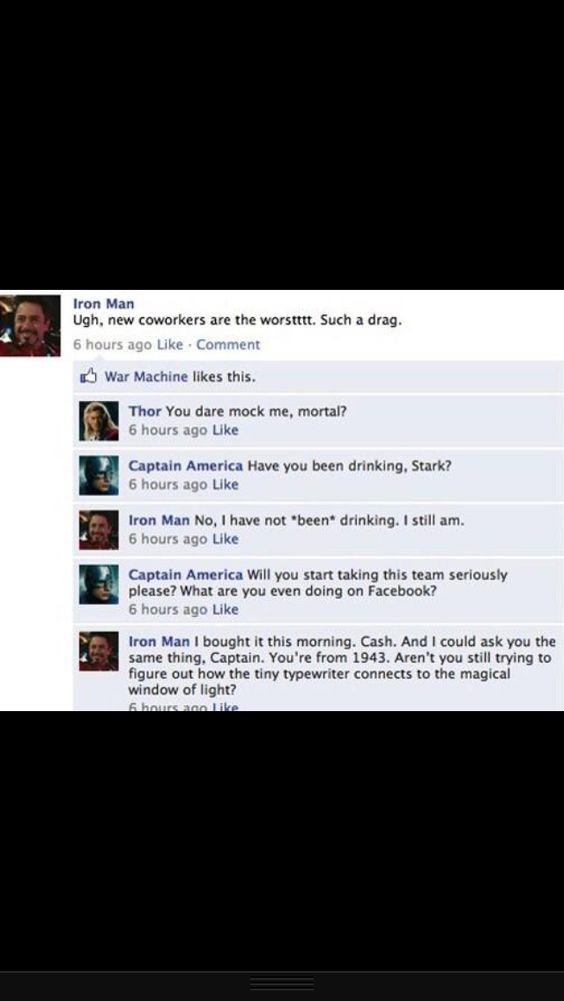 Avengers on Facebook