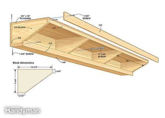 Family Handyman Custom Garage Storage: Double Decker Garage Storage Shelves