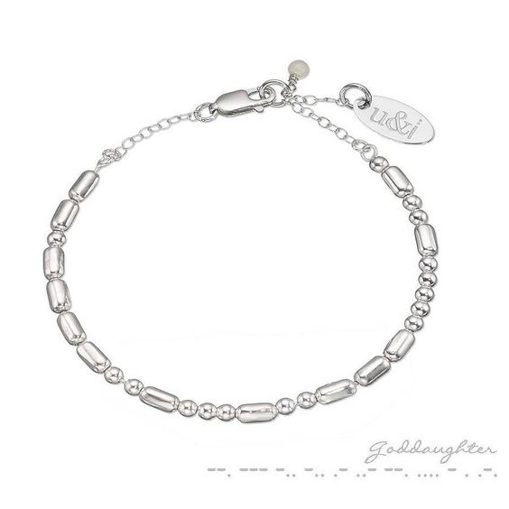 god-daughter coded bracelet by between you & i | notonthehighstreet.com