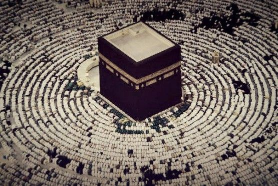 DesertRose,,,,The Ka`ba With Muslims in Sujood Around It
