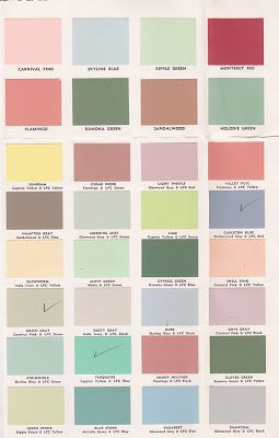 Vintage Goodness - A Blog For All The Vintage Geeks: Vintage Decorating - 1950's Paint Color Chip Brochures