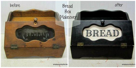 bread boxes | Makeover Mondays - Trashy Bread Box