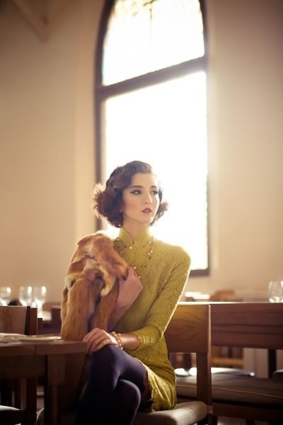 1920's | Alisa Y. | Lenne Chai #photography | Design Scene    Hehe she looks Chinese. This goes out to my half bro over there!