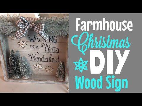 Farmhouse Christmas Diy Wood Sign Walmart Dollar Tree Supplies Youtube Christmas Crafts Diy Gifts Christmas Signs Wood Christmas Diy Wood