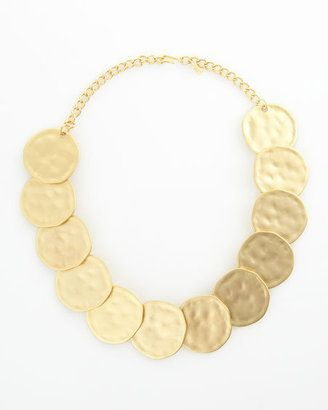 ShopStyle: Kenneth Jay Lane Hammered Disc Necklace