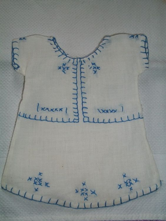 Antique pristine hand stitched chemise for doll by bebesandbruins on Etsy