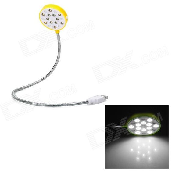 Brand: HONK; Model: HK-3006M; Quantity: 1; Color: White + yellow + silver; LED Lamp Numbers: 12; Length: 47.8cm; Features: Powered by USB port; Designed by flexible metal neck; Plug and play, with switch control; Packing List: 1 x USB light; http://j.mp/1pX1I1G