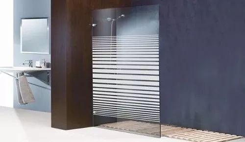 mampara de baño fija en vidrio templado 8mm
