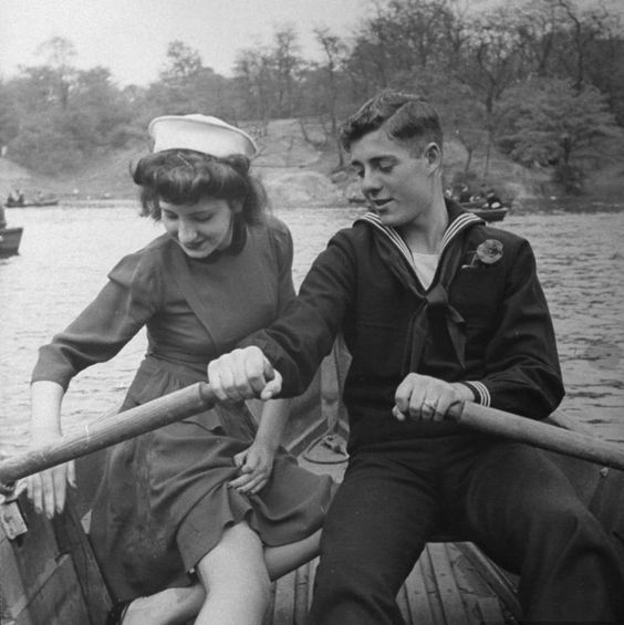 A sailor and his date enjoying a day in Central Park while he is on shore leave,1943.