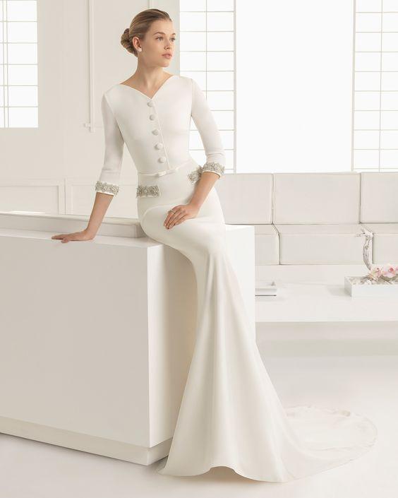 Simple Stylish WAGNER Lightweight silk muslin wedding dress
