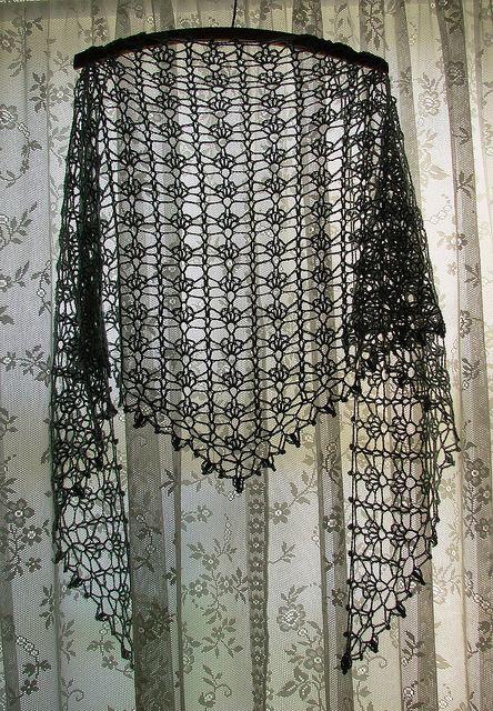 Sea Silk One-skein Shawl
