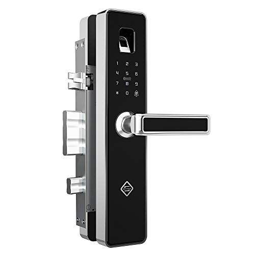 Pineworld Fingerprint Intelligent Touchscreen Mechanical In 2020 With Images Smart Door Locks Home Security Door Locks