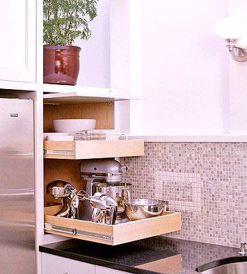 Small appliance storage appliance garage kitchen for Odd size kitchen sinks