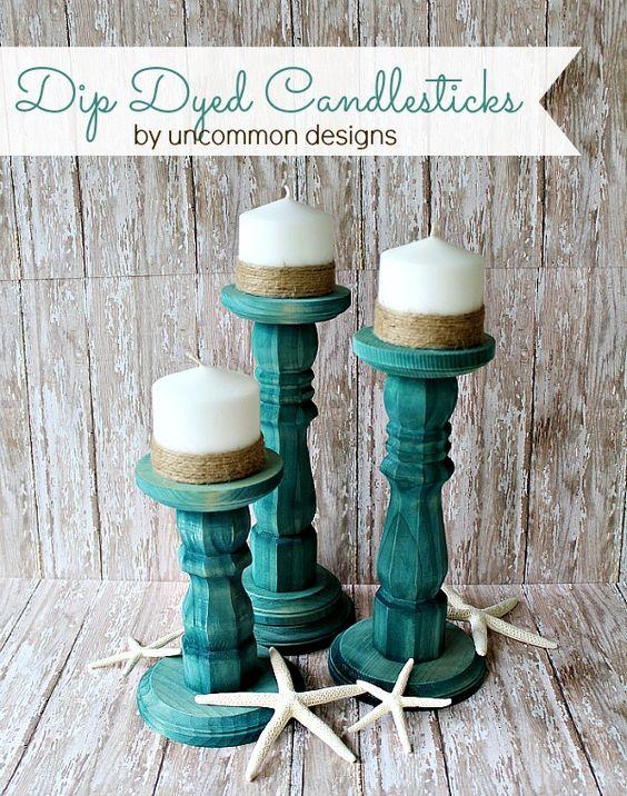 dip dyed candlesticks