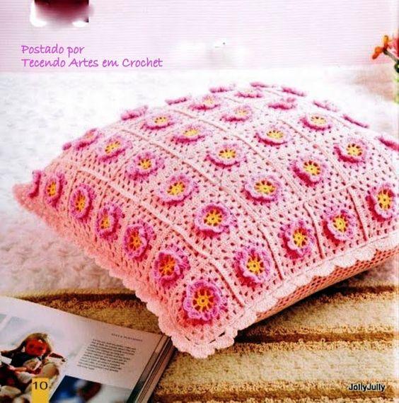 Tecendo Artes em Crochet: Vamos fazer almofadas?