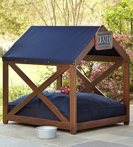 Tap for more awesome dog houses and dog beds! #doghouse