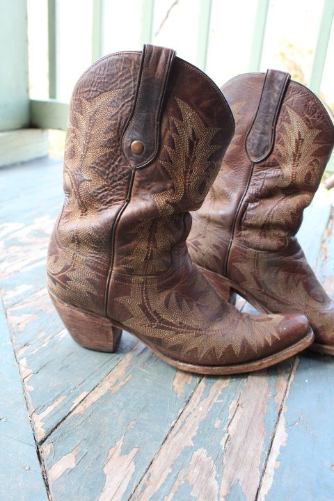 Whiskey Girl Used Corral Cowboy Boots (W 10) for BourbonandBoots ...