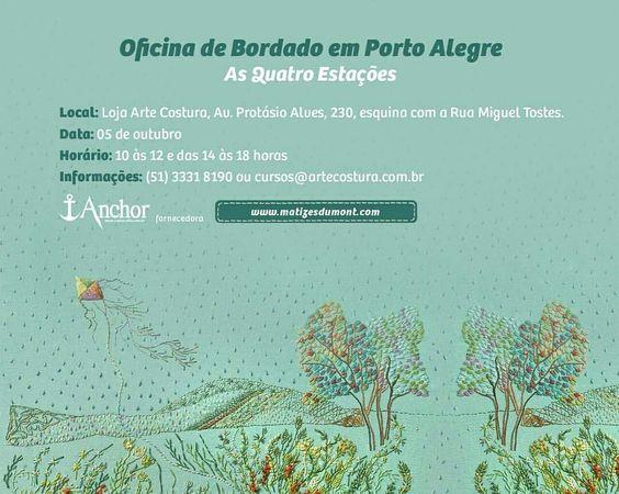 www.matizesdumont.com  Oficina de bordado em Porto Alegre