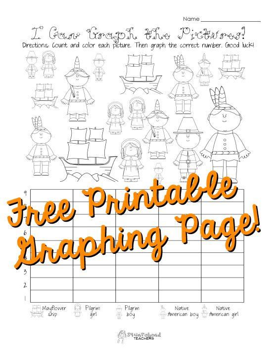 free thanksgiving graphing worksheet kindergarten first grade squarehead teachers. Black Bedroom Furniture Sets. Home Design Ideas