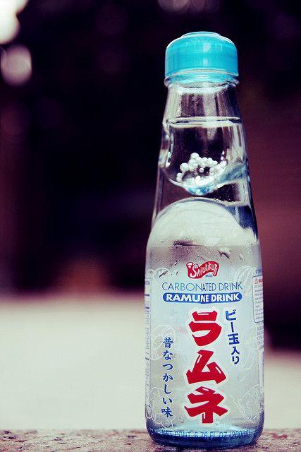 shirakiku ramune drink how to open