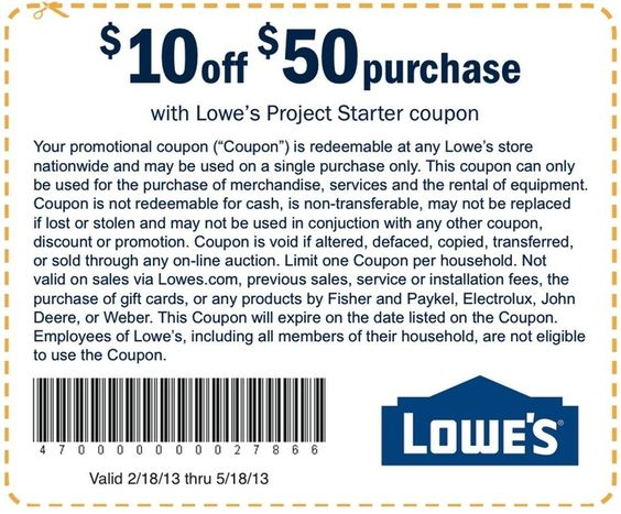Lowe's Discount Hacks. You're in luck at Lowe's Home Improvement - while Lowe's printable coupons are few and far between, they offer a ton of secret ways to save money, get discounts, and make home improvement a breeze.