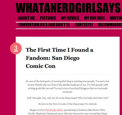 The Nerdy Girlie: What A Nerd Girl Says Feature!