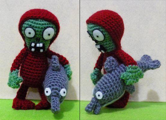 Crochet DolphinRider Zombie Amigurumi Finish, $22.90