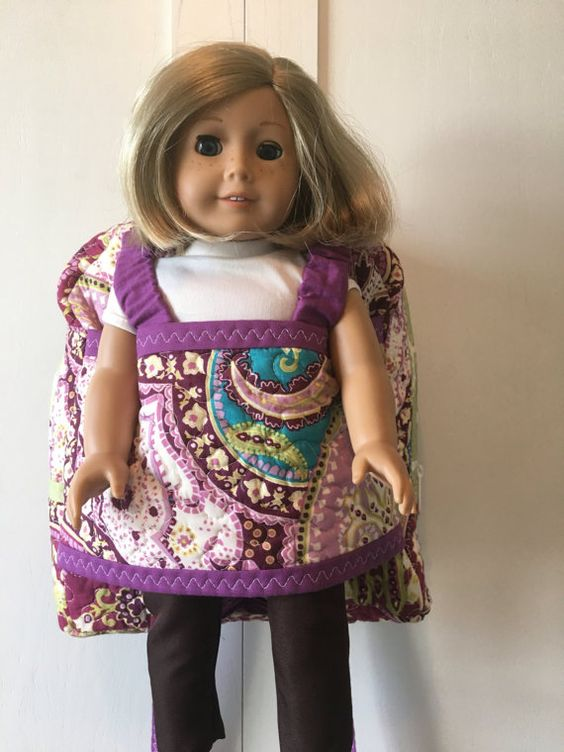 Best friend take along backpack  doll carrier  by merindamade