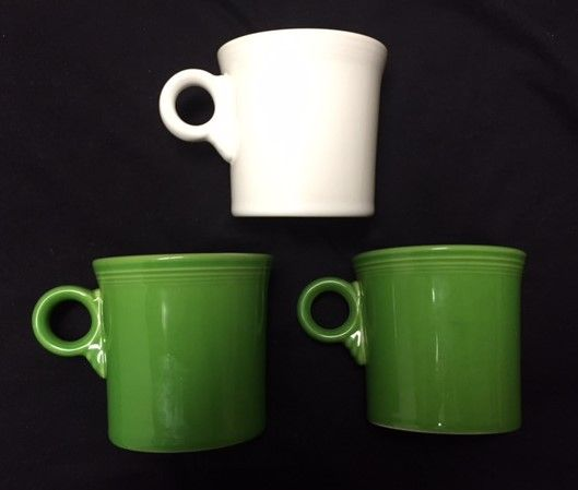 Homer Laughlin Fiesta mugs.