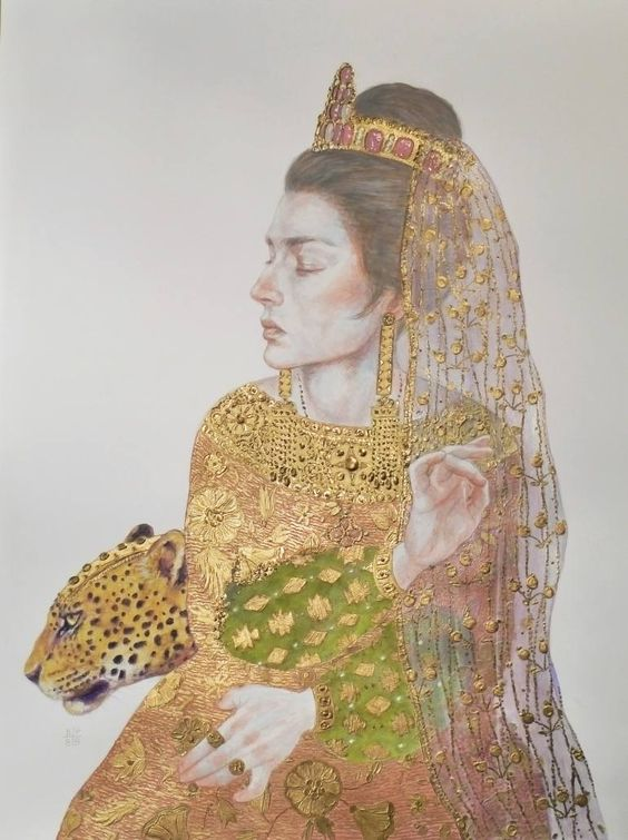"Saatchi Art Artist Bahman Pezeshkzad; Painting, ""woman and psychopomp"" #art:"