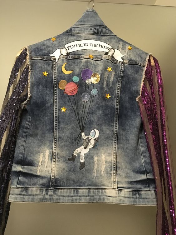 Trendy Embroidered Jean Jacket