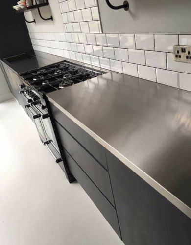 Details About Stainless Steel Kitchen Worktops Stainless Steel Worktops Cocinas Cocinas Modernas Cocina Local