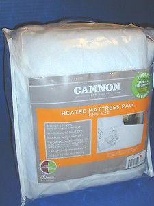 New Cannon King Size Heated Mattress Pad