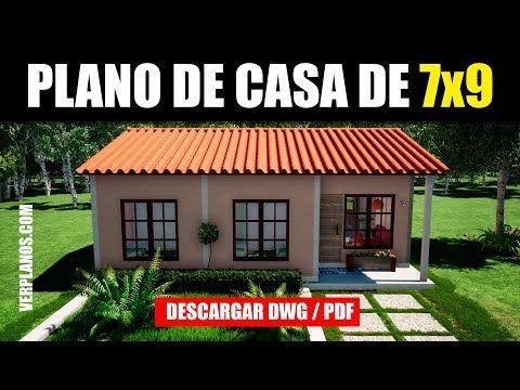 Plano De Casa Gratis 3 Dormitorios 1 Piso Dwg Y Pdf Youtube Planos De Casas Economicas Planos De Casas Casas Campestres Pequenas