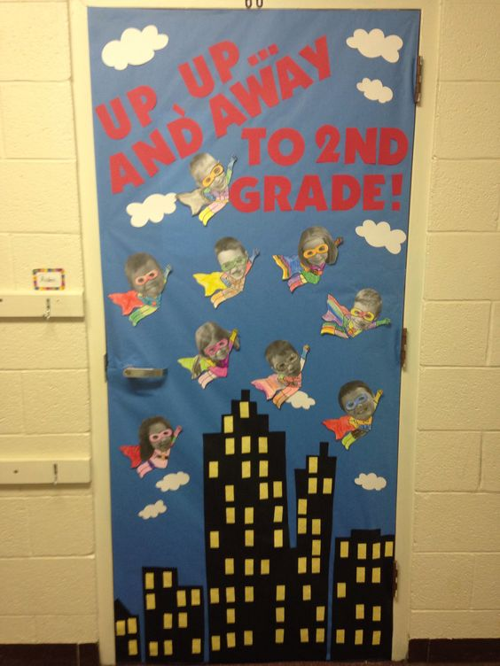 Classroom Decoration For Grade 5 ~ Superhero door decor this would be adorable for when the