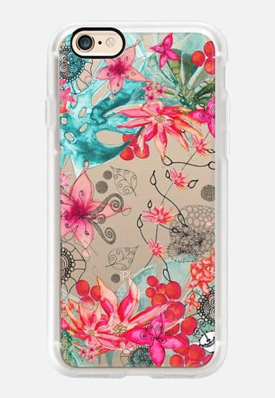 Casetify iPhone 7 Case and Other iPhone Covers - TROPICAL GARDEN HTC One M8 transparent case by Monika Strigil | #Casetify