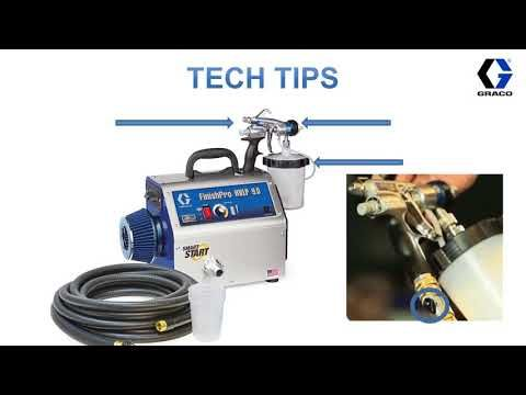 Finishpro Hvlp Sprayers Tech Tip Youtube Hvlp Sprayer Hvlp Paint Sprayer