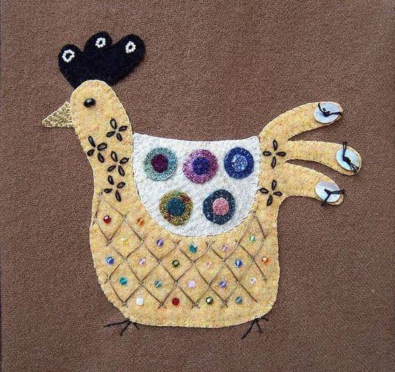 One Pink Goose: Textile Chickens And Angel Blessings