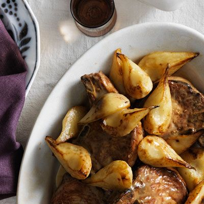 Pan-Seared Pork Chops with Rosemary and Pears Recipe - Country Living